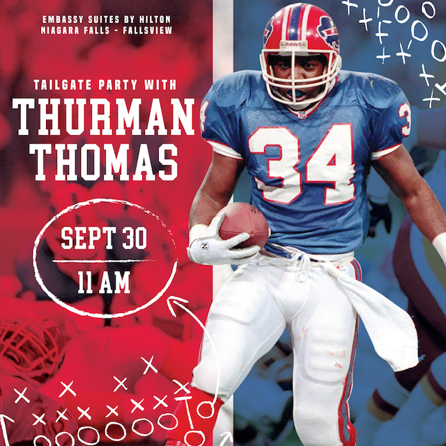 Tailgate Party With Thurman Thomas- The Keg Steakhouse + Bar